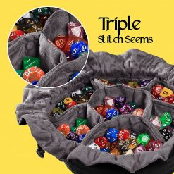 Immense Dice Bags with Pockets – Capacity 150+ Dice – Great for Dice Hoarders