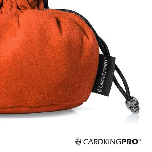 Immense Dice Bags with Pockets – Burnt Orange – Capacity 150+ Dice – Great for Dice Hoarders