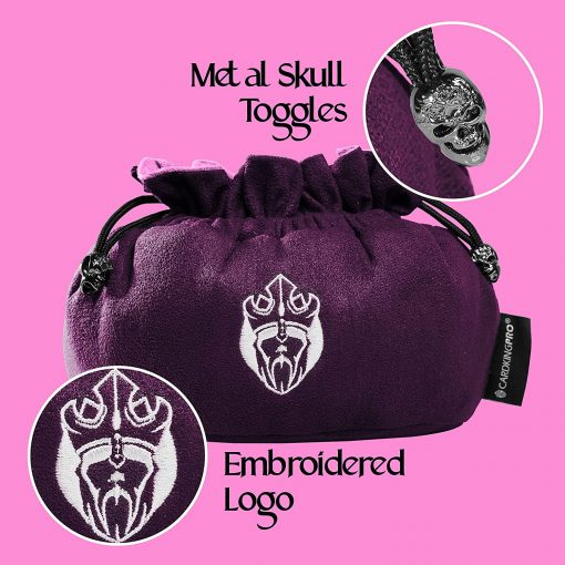 Immense Dice Bags with Pockets – Purple