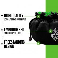 Immense – ODD Edition – Dice Bags with 15 Pockets – Black/Green – Capacity 200+ Dice – Great for Dice Hoarders